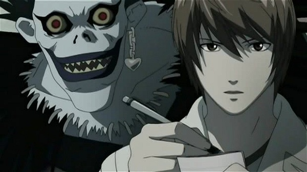 death note ryuk e light