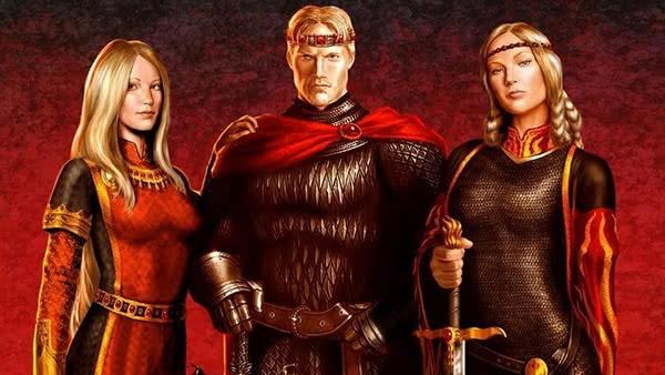 Aegon e suas irmãs, Rhaenys e Visenya