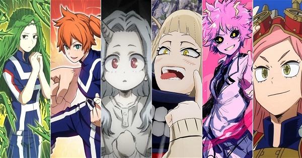 As 10 personagens femininas mais poderosas de Boku No Hero ...
