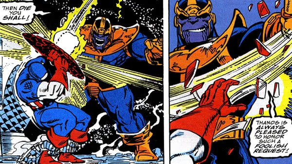 Thanos sempre faz todos os pescoços se virar