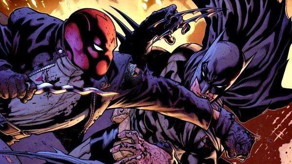 Capuz Vermelho lutando contra Batman