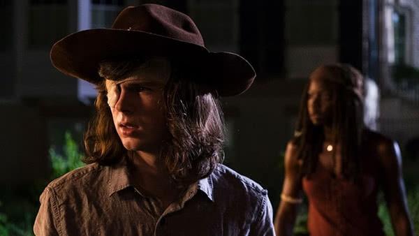 Carl e Michonne