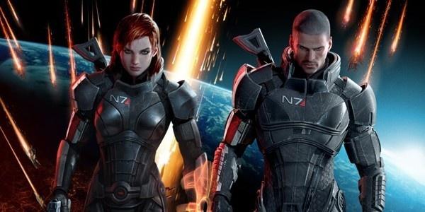 Comandante Shepard feminino e masculino