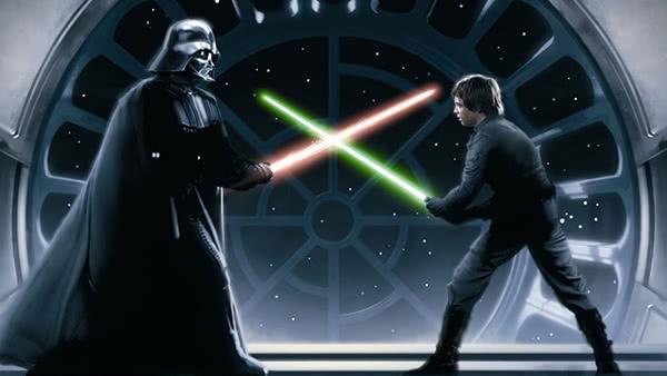Luke luta contra Darth Vader