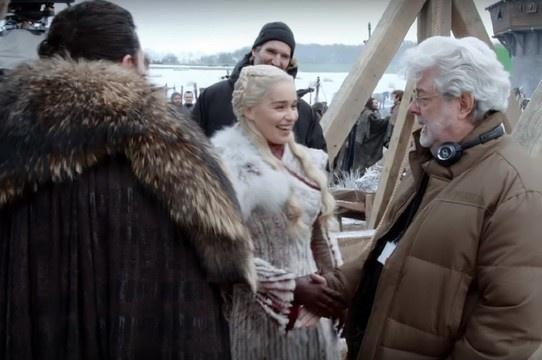 Game of Thrones | Vídeo de bastidores revela visita de George Lucas