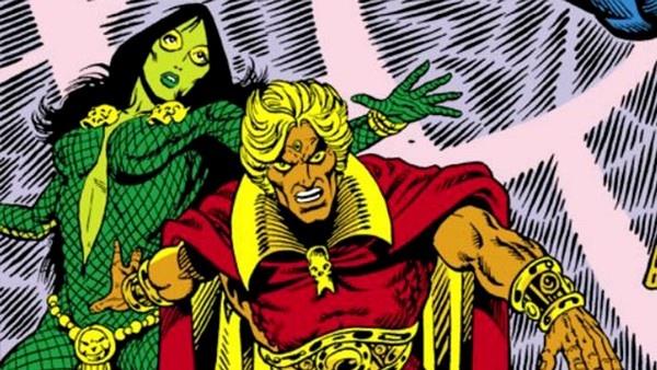Gamora e Adam Warlock