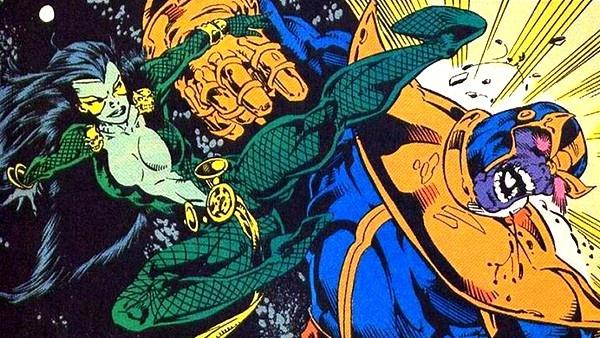 Gamora e Thanos