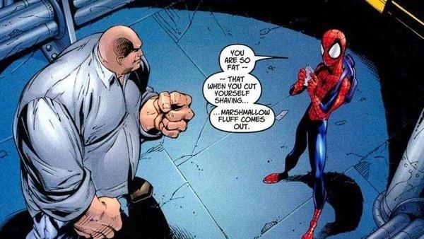 quadrinho do Homem-Aranha e Rei do Crime