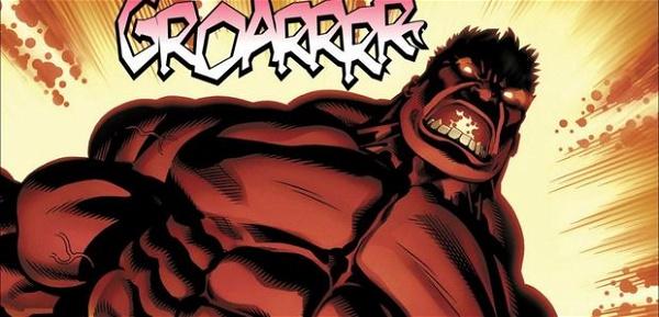 Hulk Vermelho absorvendo radiação