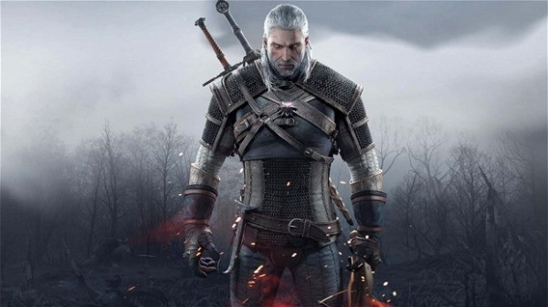 Geralt de Rivia no jogo The Witcher