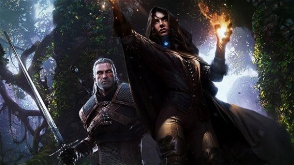 The Witcher em sua versão para consoles