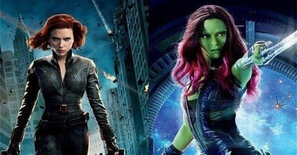 Viúva Negra e Gamora