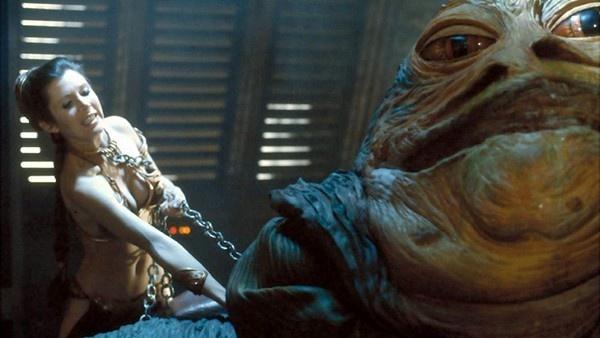 Leia enforcando Jabba