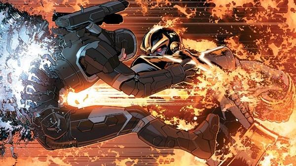 Thanos matando Máquina de Combate