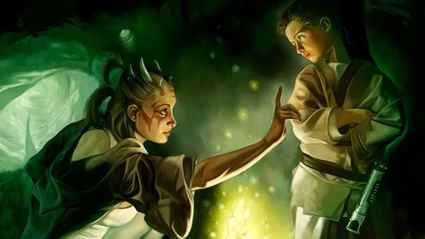 Mestre Jedi e Padawan