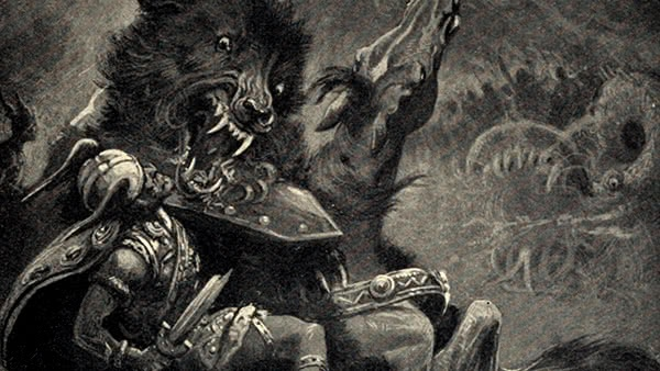 Fenrir ataca Odin