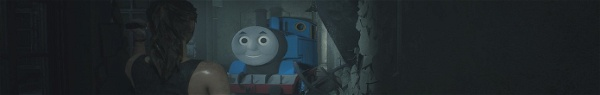 Resident Evil 2 | Modo substitui Mr. X por trem de Thomas e Seus Amigos
