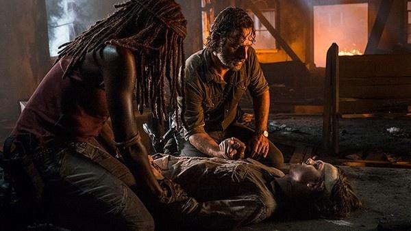 Carl, Michonne e Rick