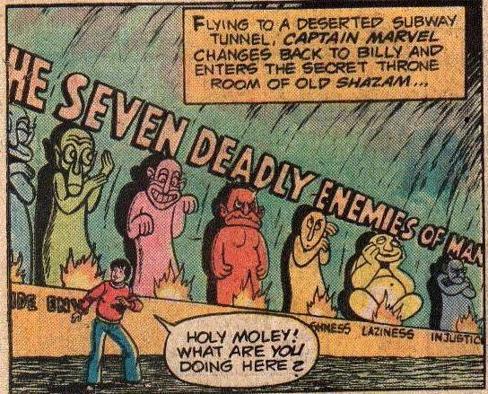os sete pecados shazam