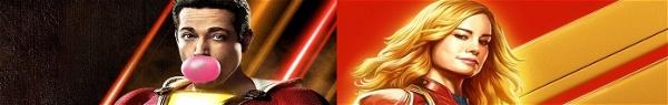Shazam!   Diretor faz publicações brincando com Capitã Marvel