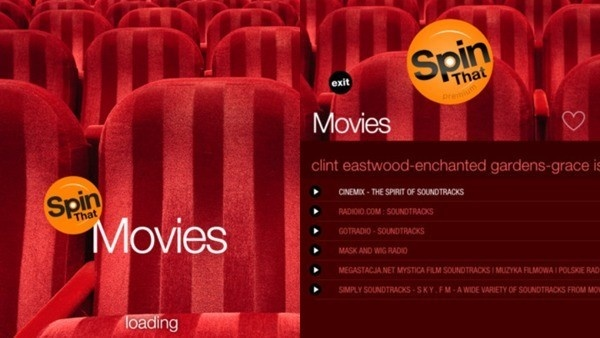 captura de tela do app Spin That Movies
