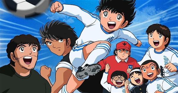 Cena de Super Campeões, anime de futebol - legadoplus
