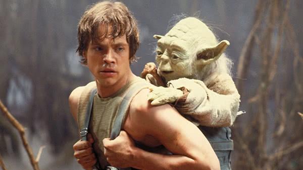 Treinamento com Yoda nos pântanos de Dagobah
