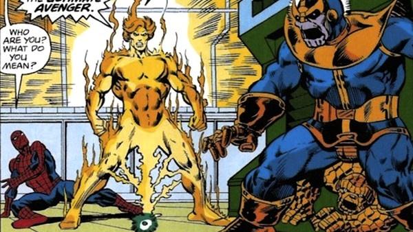 Homem-Aranha, Adam Warlock e Thanos