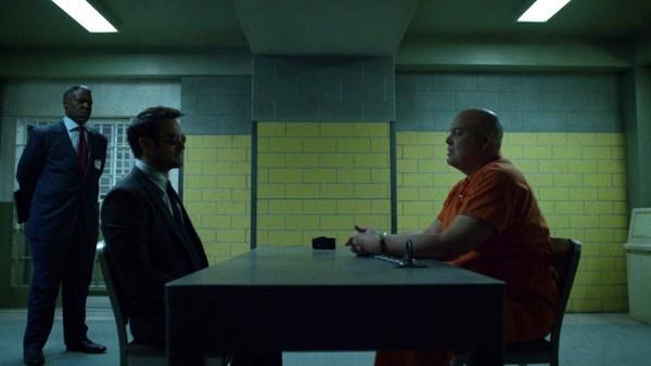 Matt Murdock enfrentando Wilson Fisk na prisão