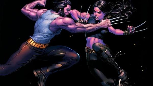 Wolverine e X-23 lutando
